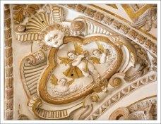 Украшения на стенах собора в Меските.