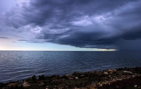 Шторм над Мексиканским заливом.