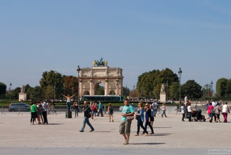 Триумфальная арка на площади Каррузель.