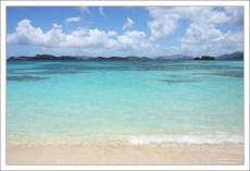 Классический карибский цвет воды.