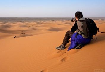 Фотоохота за верблюжьим караваном.