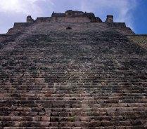 Ступени Пирамиды Волшебника. Ушмаль.