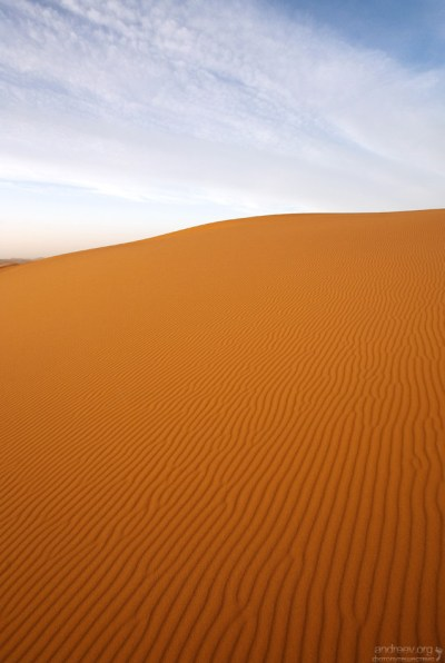 Песчаная ритмика дюн.