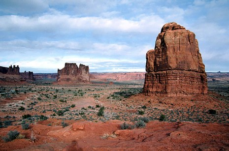 Courthouse Towers. Arches National Park, Юта.