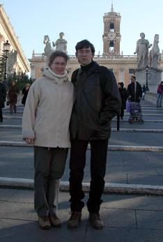 Пологая лестница Cordonata, построена в 16 в. по проекту Микеланджело.