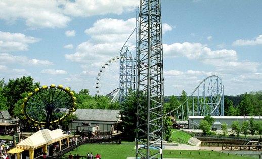 "Парк аттракционов Six Flags. Вид с роллер-кастера ""The Boss"". Сент-Луис, Миссури. Июнь, 2001 год."