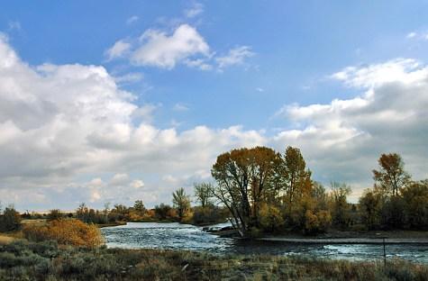 Золотая осень в Юте. В окрестностях города Salt Lake City.
