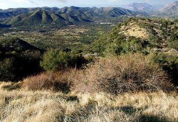 Начало горной системы Сьерра-Невада.