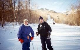 На одной из трасс горнолыжного курорта Stowe.