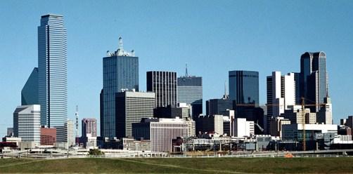 Деловой центр Далласа. Техас. Ноябрь, 2001 год.