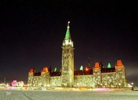 Парламентский холм. Вечернее шоу огней.