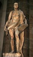 Статуя святого Бартоломео без кожи. Миланский Duomo.