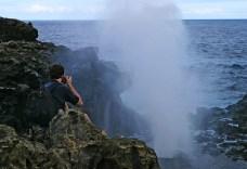 Nakalele blowhole во время извержения.