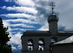 Звонница Софийского собора, западная сторона. Великий Новгород.