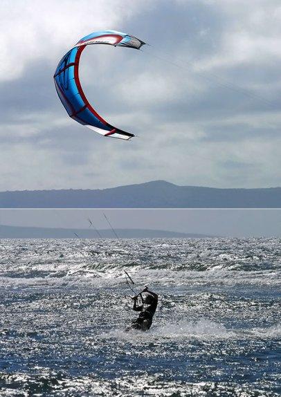 Серфинг с воздушным змеем. Пляж Papalaua.