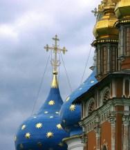 Купола Успенского собора и Надвратной церкви. Троице-Сергиева Лавра.