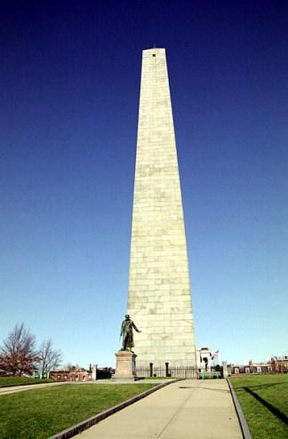 Обелиск Bunker Hill Monument, воздвигнут в честь победы американцев над англичанами в 1775 году. Обелиск является прототипом для других на территории США.