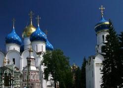 Ансамбль храмов в Троице-Сергиевой Лавре.