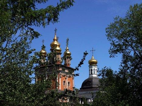 Купола Надвратной церкви. Троице-Сергиева Лавра.