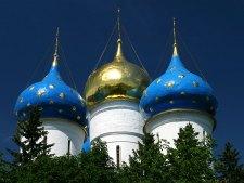 Симметричные купола Успенского собора. Троице-Сергиева Лавра.