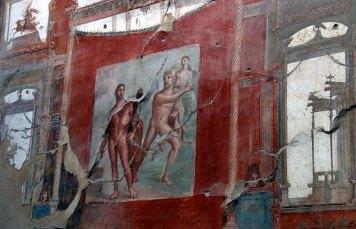 Фреска в ванной комнате, Геркуланум.