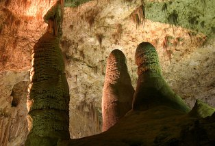 Hall of Giants - Зал Гигантов. Carlsbad Caverns National Park.