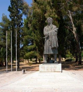 Статуя Лорда Байрона в Мессолонгах.