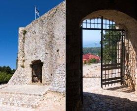 Ворота замка Chlemoutsi.