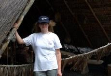 В гавайской деревне.