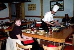 """В японском ресторане """"Shogun"""". Февраль, 2001 год."""
