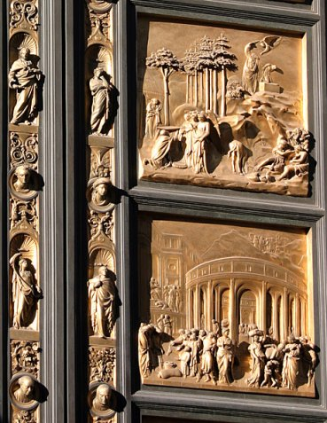 Восточные бронзовые двери Баптистерия. Флоренция.