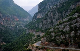 Перевал Langada. Участок дороги Каламата-Спарта.
