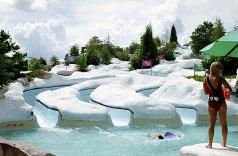 "Аттракцион ""Snow Stormers"" - слалом на мате. Водный парк ""Blizzard Beach"", Disney World."