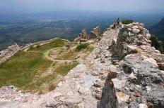 Верхняя часть древнего византийского города Mystras.