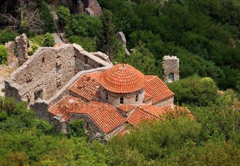 Византийская церковь в комплексе Vrontochion. Mystras.