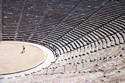 Ритмичная графика античного театра Эпидаврос.