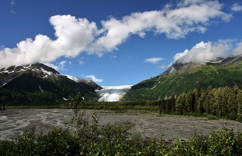 Дорога к леднику Exit Glacier.