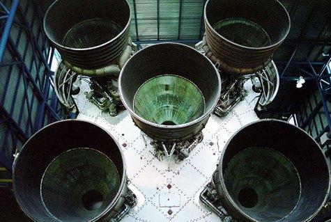 """Лунная ракета """"Сатурн-5"""". Kennedy Space Center, Мыс Канаверал."""