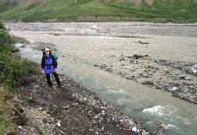 Начало похода вдоль Toklat river.