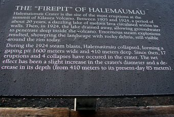 История кратера Halema'uma'u. Hawai'i Volcanoes National Park.