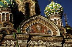 Спас-на-крови. Мозаики созданы по рисункам Васнецова, Врубеля, Рябушкина, Нестерова.