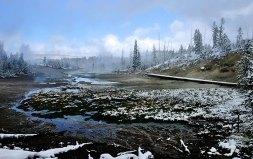 Бассейн Норриса, присыпанный снегом.
