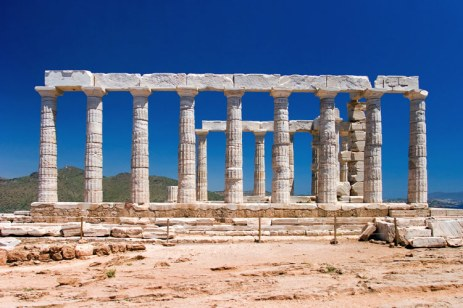 Храм Посейдона на мысе Сунио. 5 в до н.э.