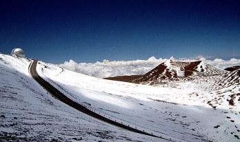 По пути на гору Mauna Kea. Воздух уже довольно разряжен.