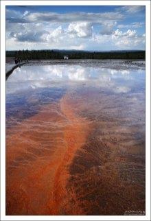 Едва покрытая водой почва в бассейне Midway.