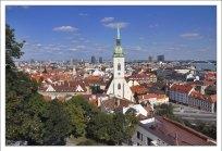 Вид на самый большой район Братиславы — Петржалку.