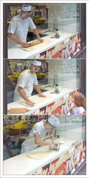 Начало процесса изготовления кюртёшкалача.