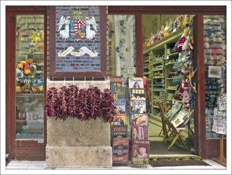 Магазин венгерских сувениров на улице Vaci.