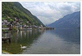 Ледниковое озеро Hallstätter See.