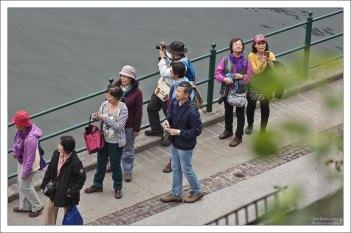 Паломничество китайских туристов в Халльштатт.
